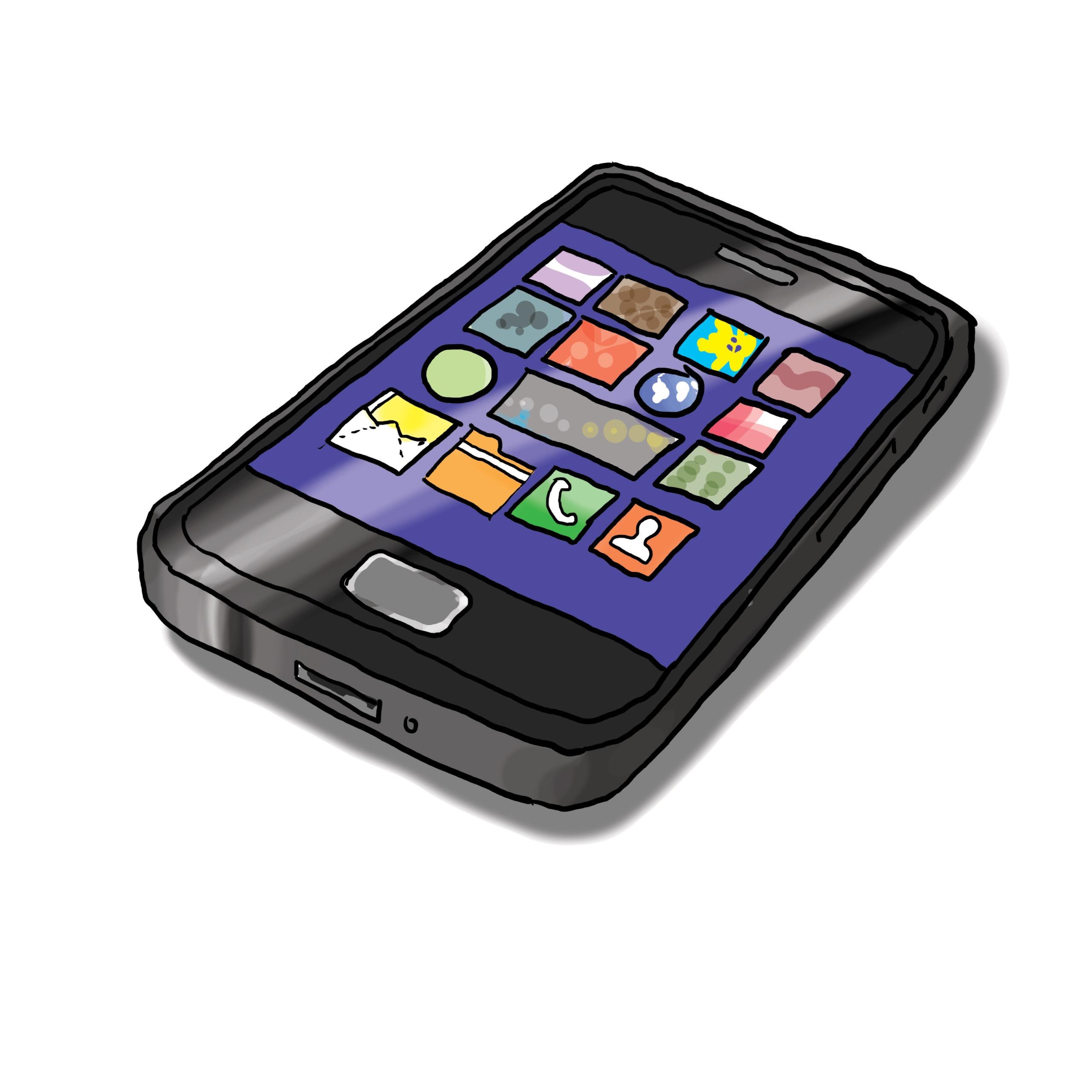 Das Bild zeigt ein Smartphone.