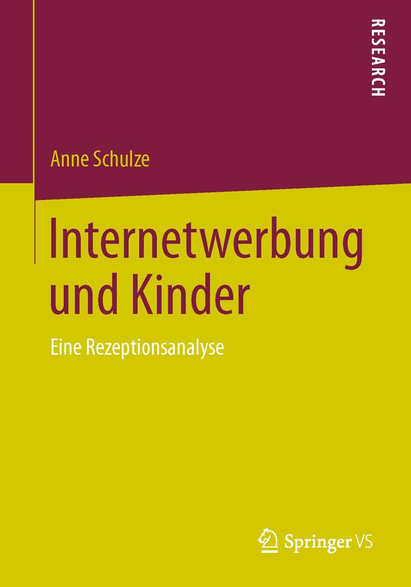 """Das Foto zeigt das Cover des Buches """"Internetwerbung und Kinder""""."""