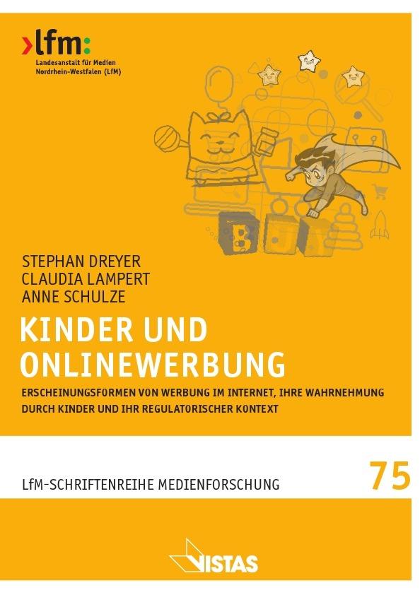 """Das Foto zeigt das Buchcover des Buches """"Kinder und Onlinewerbung""""."""