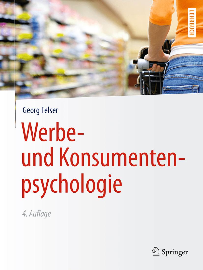 """Das Foto zeigt das Cover des Buches """"Werbe- und Konsumentenpsychologie""""."""