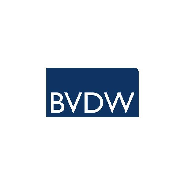 Unsere Mitglieder: Hier ist das Logo unseres Vereinsmitglieds BVDW zu sehen.