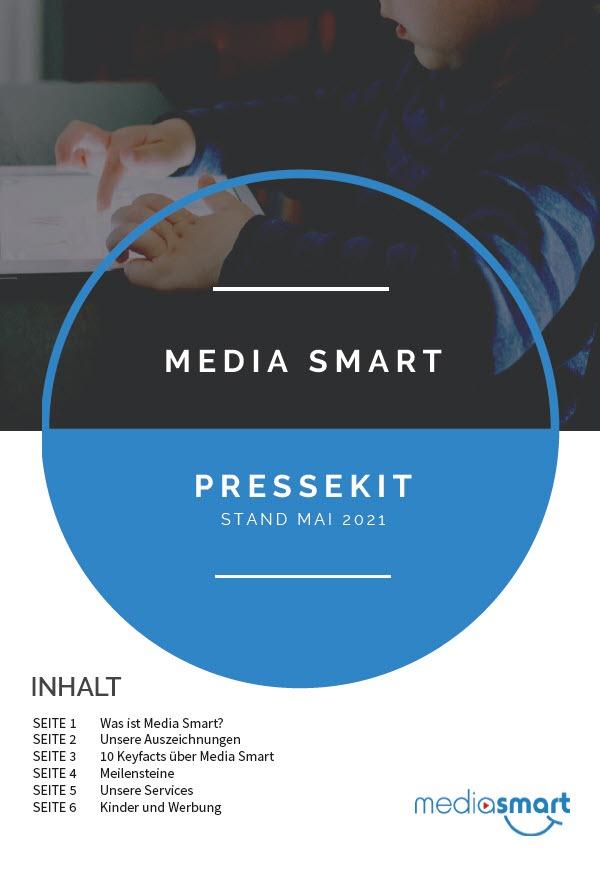 Pressekit: Kinder Medien Werbung: Das Foto zeigt das Cover des Pressekits von Media Smart e. V.